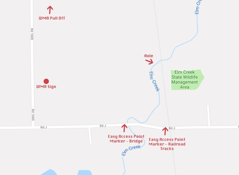 Elm Creek Map
